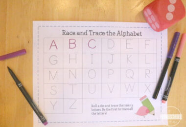Race and Trace Alphabet Game