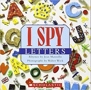 i spy alphabet letters book