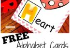 FREE Letter Sound Cards -this hands on, interactive alphabet activity is a fun way for preschool, kindergarten, and first graders to practice letter sounds, beginning sounds, phonemic awareness, and start learning phonics. Use free printable with letter magnets for a fun educational activity #alphabet #beginningsounds #prek #kindergarten