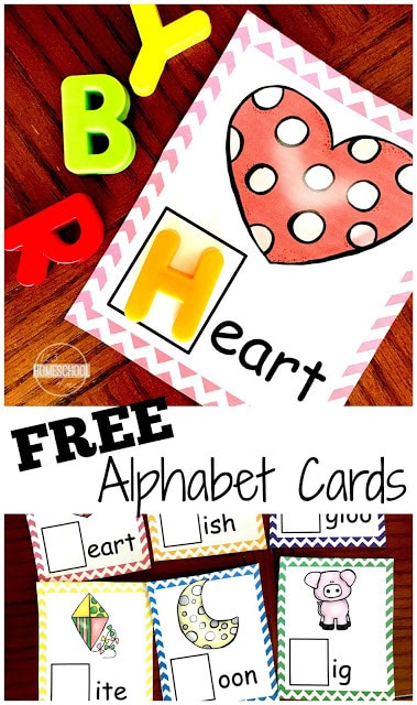 Is your child working on learning the sounds letters make to distinguish what alphabet letter words start with? These free printable Letter Sound Cards are a handy phonemic awareness activity for preschool, pre-k, and kindergarten age kids. This alphabet printable is great for teaching phonics and beginning sounds so children will be ready to read! Use these with magnetic letters as an alphabet activity.