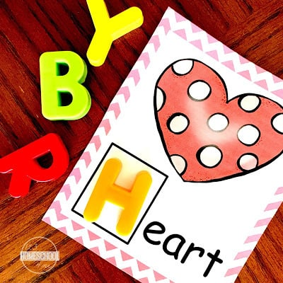 free printable for learning letter sounds with preschoolers, kindergartners, and first graders