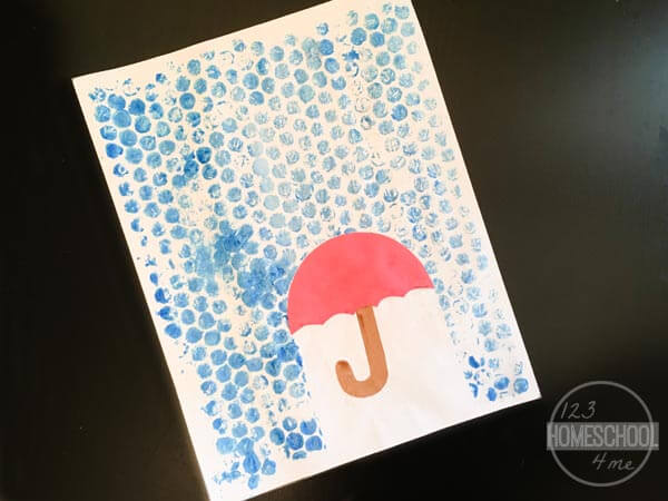 pretty umbrella craft with rain