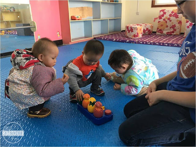 visiting my sons orphanage - the children never went outside, ever