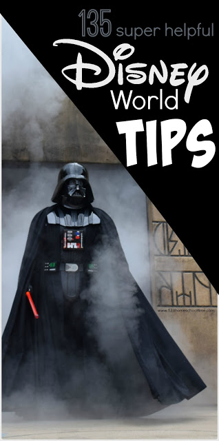 135 super helpful Disney World Tips - lots of great tips and tricks for planning a Disney World vacation including disney dining, general tips, magic kingdom, epcot, hollywood studios, animal kingdom, and resorts. (WDW, WDW planning, family vacation)
