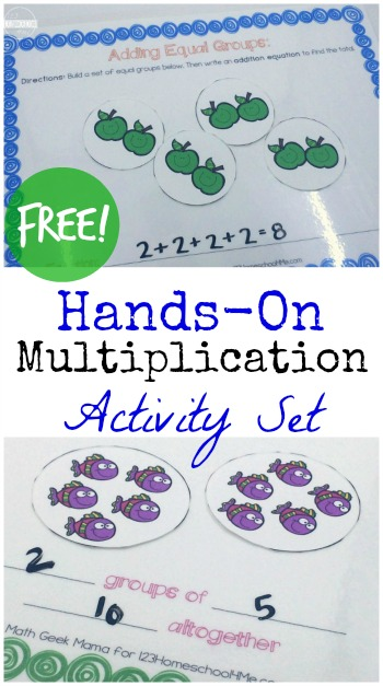 Hands on Introduction to Multiplication Activity - this is such a great way to teach kids about multiplication with hands on math activity (first grade, grade 1, 1st grade, 2nd grade, 3rd grade, homeschool, math activity)