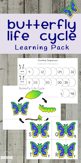Butterflies are brightly colored insects that have a four-part life cycle. These butterfly life cycle worksheetcontains a huge variety of activities about the butterfly life cycle for kids as well as many fun, educational math and literacy pages with a fun butterfly theme for spring. Use theselife cycle of a butterfly worksheet with toddler, preschool, pre-k, kindergarten, and first grade students. Simply download pdf file withbutterfly printablesand you are ready to play and learn with thesethemed worksheets for your learners.