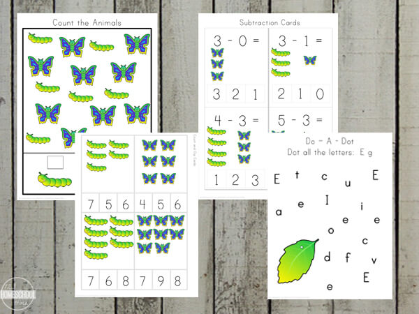 butterfly preschool worksheets