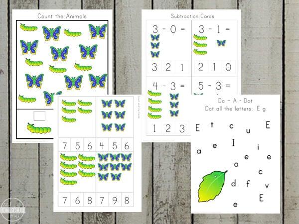 butterfly preschool worksheets