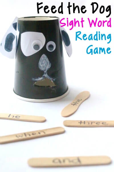 Feed The Dog Sight Word Reading Game 123 Homeschool 4 Me