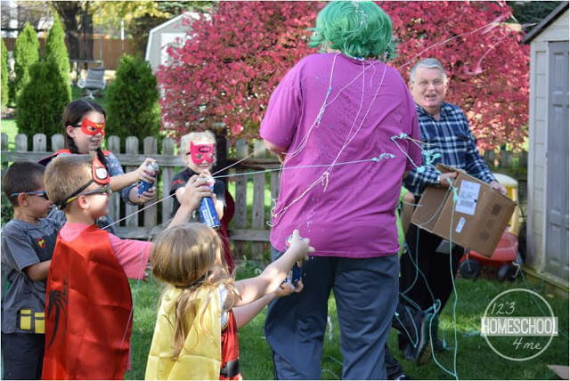attacking Joker super hero birthday party theme