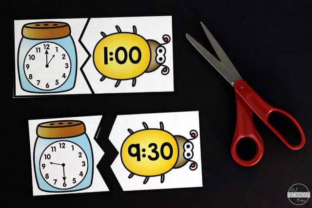 super cute insect themed clock games for kids