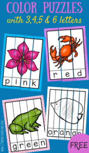 FREE Color Word Puzzles