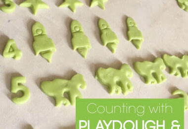 Counting with Playdough and Cutters