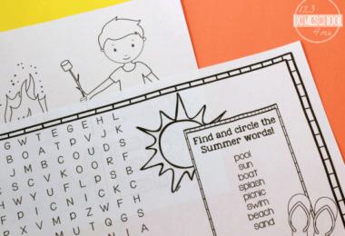 Summer Kids Activity Sheets