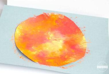 Squish-Painted-Sun-Craft