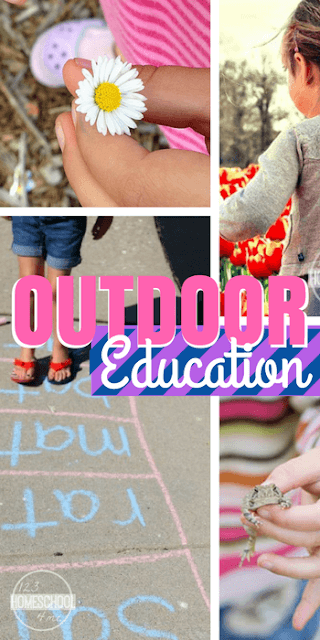 Outdoor Education - 7 fun and easy ideas for incorporating learning outside in your homeschool #homeschool #homeschooling