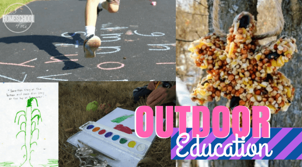 so many fun, clever ideas for outdoor learning with kids of all ages