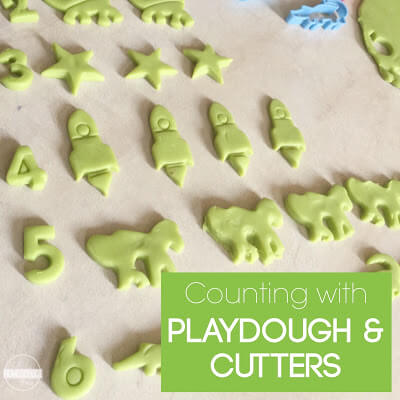 playdough counting activity