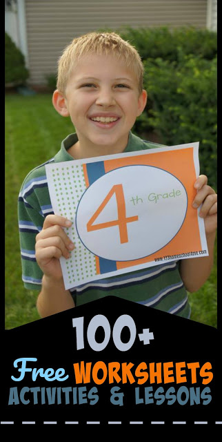4th grade - Over 100 FREE printable fourth grade worksheets and games including math grammar, social studies, history, science, geography, art, and more worksheets, activities, lessons, and more. #4thgrade #freeworksheets #homeschooling