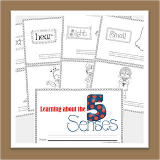 5 senses worksheets for kids