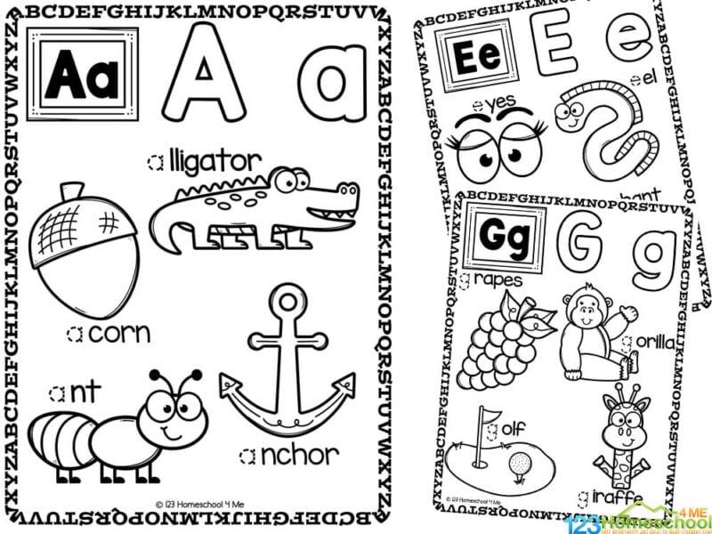 Alpahbet coloring pages