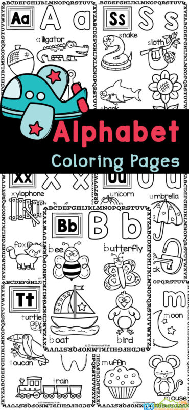 Are your children working on learning their alphabet letters? Help them work on learning their letters, tracing letters, and letter sounds with these super cute alphabet coloring pages. These letter coloring pages are perfect for toddler, preschool, pre-k, kindergarten and even first graders too. These alpahbet coloring pages also work on vocabulary, spelling, and strengthening fine motor skills kids will need to write. Simply printABC coloring pages and you are ready to get colouring with thisalphabet printables.