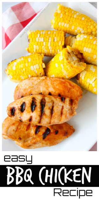 One of my favorite things about summer is grilling! SUre it's fun ot try to grill new things, mouthwatering ribs, juicy burgers, and steaks, we end up doing a lot ofeasy grilled chicken recipes. Chicken is not only relatively cheap compared to all the meats, but it is one of the best for you healthwise and super versatile too. This easy bbq chicken breast is sure to become another go-to summer recipe for your family. Thebest chicken marinade for bbquses a couple common kitchen staples for a quick and easy marinade for chicken!