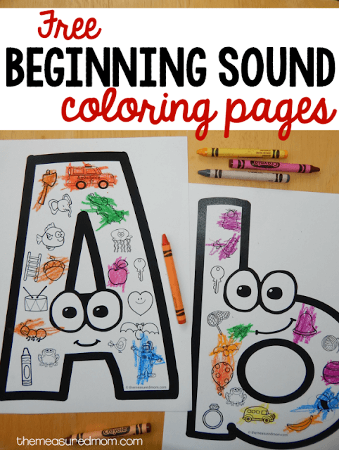 FREE Funny Faces Alphabet Coloring Pages - These are SO CUTE! Toddler, Preschool, and Kindergarten age kids will love practicing letter sounds with these coloring page!