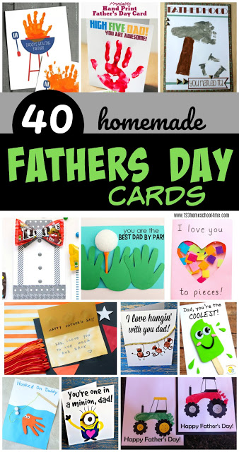40 Homemade Fathers Day Cards - so many fun, unique, and creative Fathers Day Cards for kids to make for Dad, Papa, or Grandpa to celebrate Father's Day #fathersday #fathersdaycards #fathersdayforkids