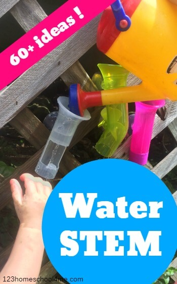 60+ Fun STEM Water Activities - perfect for kid of all ages - so many creative summer activities for kids. Dont forget to add these to summer bucket list to try with your preschool and kindergarten age kids #kidsactivities #stem #summerbucketlist