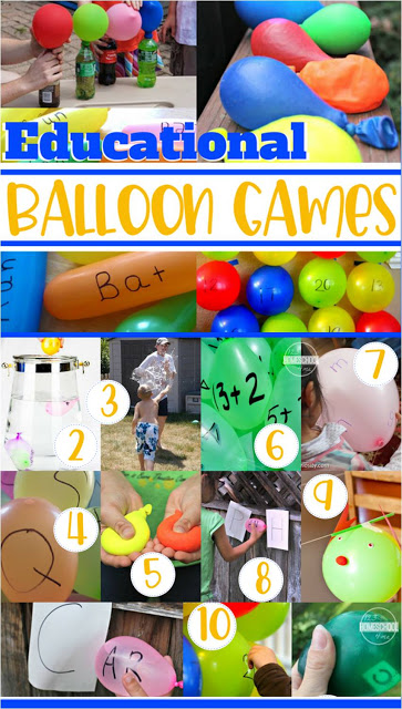 Balloon Games - lots o fun, creative, and unique educational balloon games for summer fun for toddler, preschool, prek, kindergarten, first grade, 2nd grade, 3rd grade (summer activities, summer bucket list) #summeractivities #kidsactivities #summerbucketlist