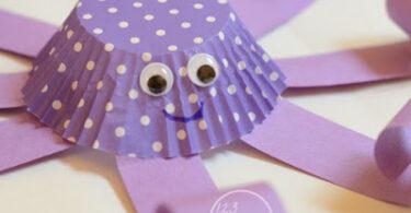 Cupcake Liner Octopus Ocean Craft