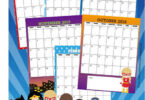 Girl Superheroes Printable Calendar