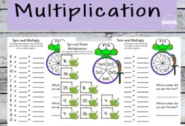 Frog Math Worksheets