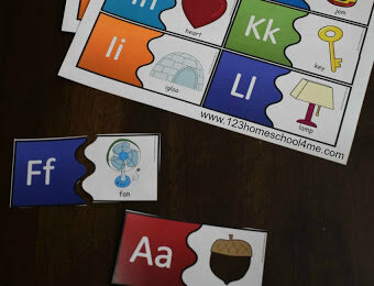 Colorful Alphabet Puzzles