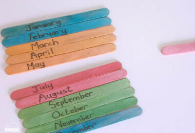 Months of the Year Sequencing Sticks