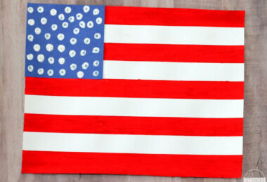 Painters Tape American Flag Craft
