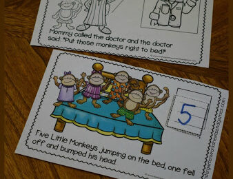 5 Little Monkeys Counting Book