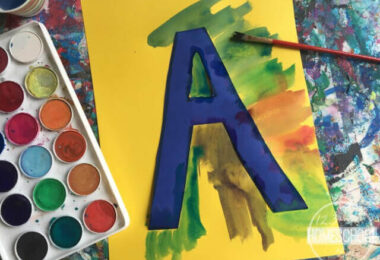 Painted Alphabet Art for Kids