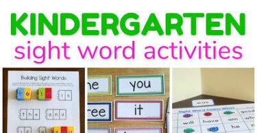 Kindergarten Sight Words Games