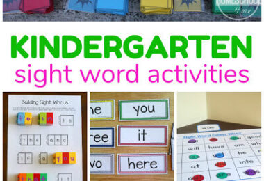 Kindergarten Sight Words Games