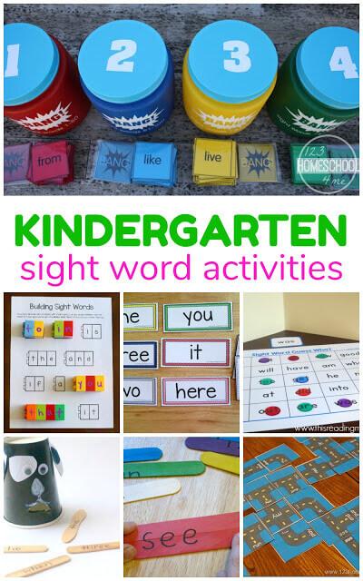 new  kindergarten sight words games