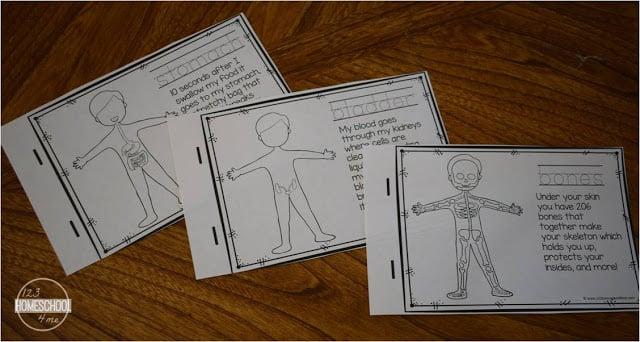 free printable human body emergent reader