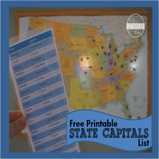 free printable state capitals list