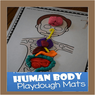 human body playdough mats
