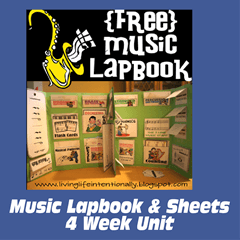 free music lapbook 4 week unit