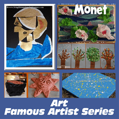 homeschool famous artist projects
