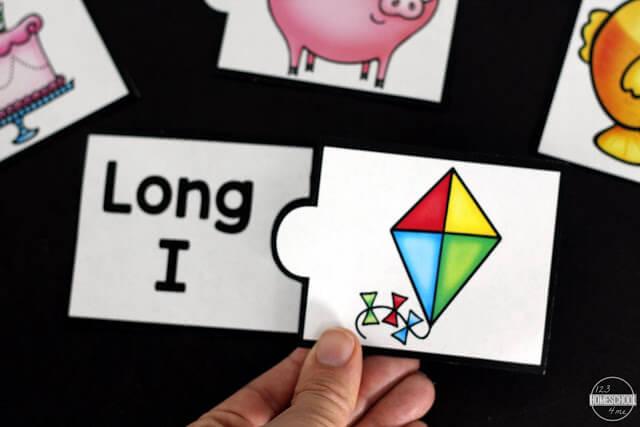 long i vowel activities