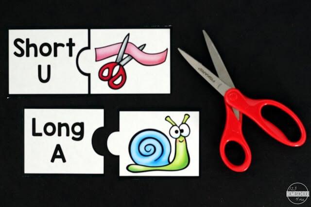 long vowel and short vowel puzzles