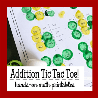 tic tac toe math addition game